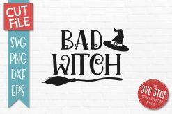 Bad Witch SVG Cut File Clipart