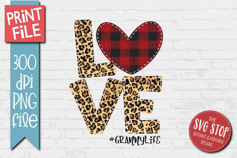 Download Love Mom Life - Sublimation Design PNG - Print File