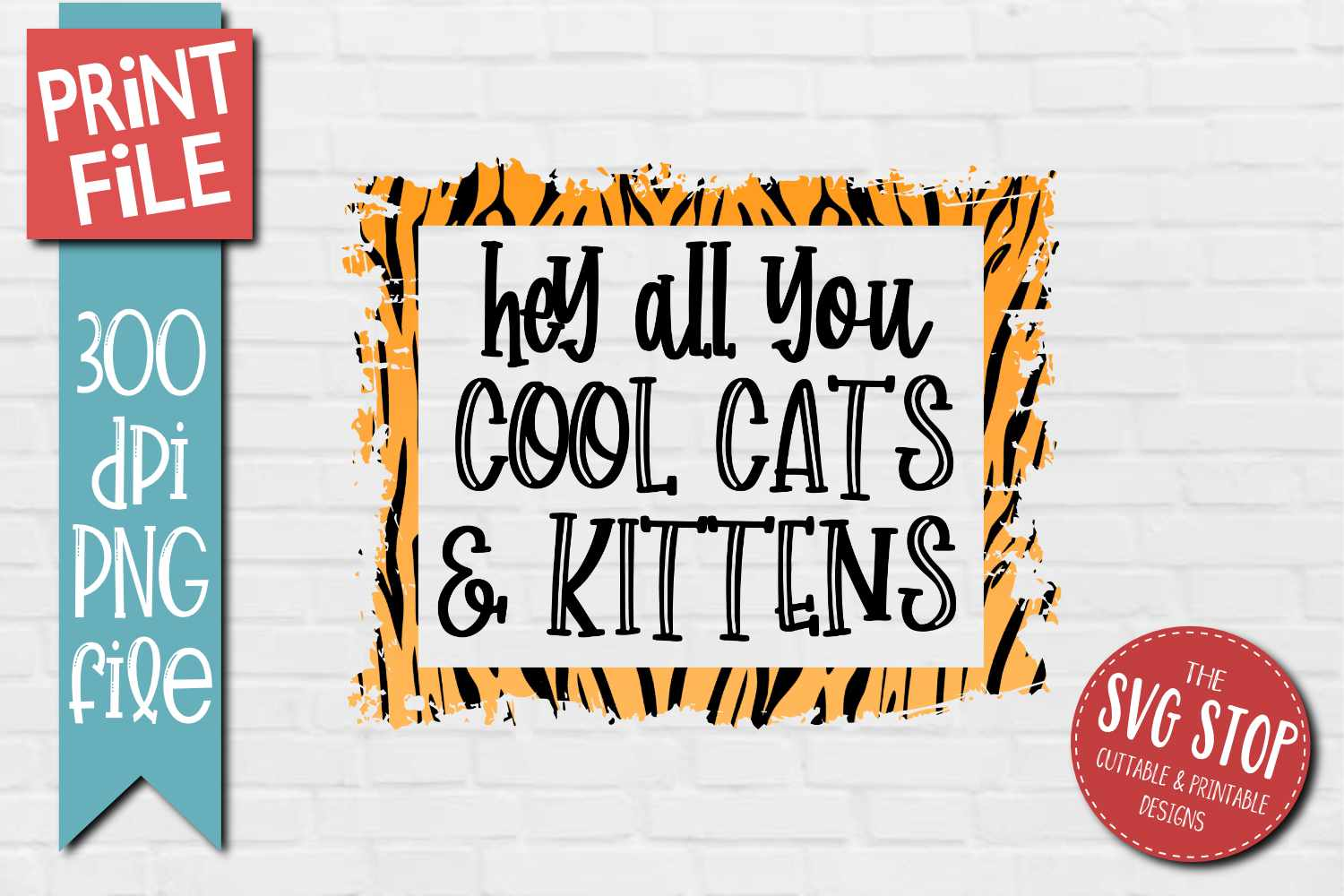 Cool Cats Kittens Sublimation Design Print File 2020